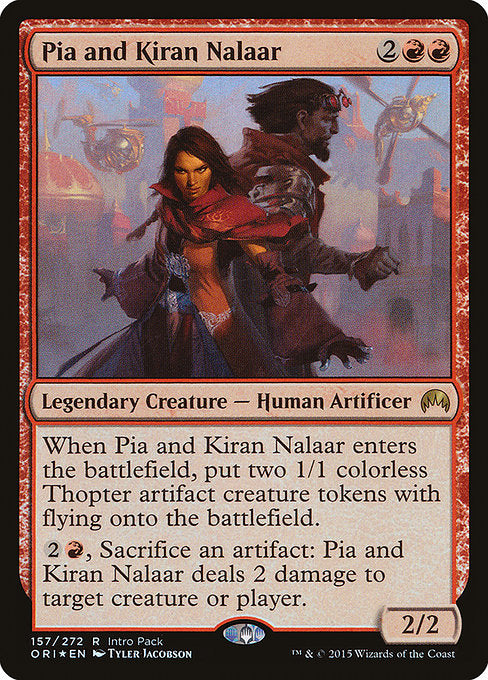 Pia and Kiran Nalaar [Magic Origins Promos] | Affinity Games