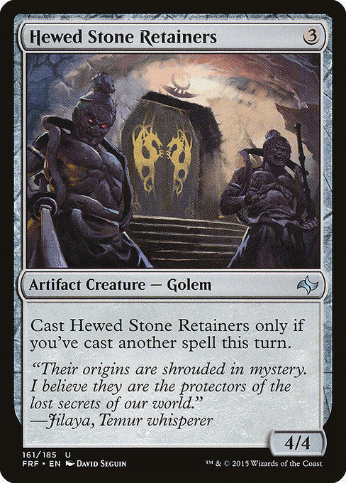Hewed Stone Retainers [Fate Reforged] | Affinity Games