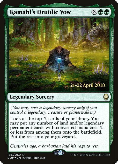Kamahl's Druidic Vow [Dominaria Promos] | Affinity Games