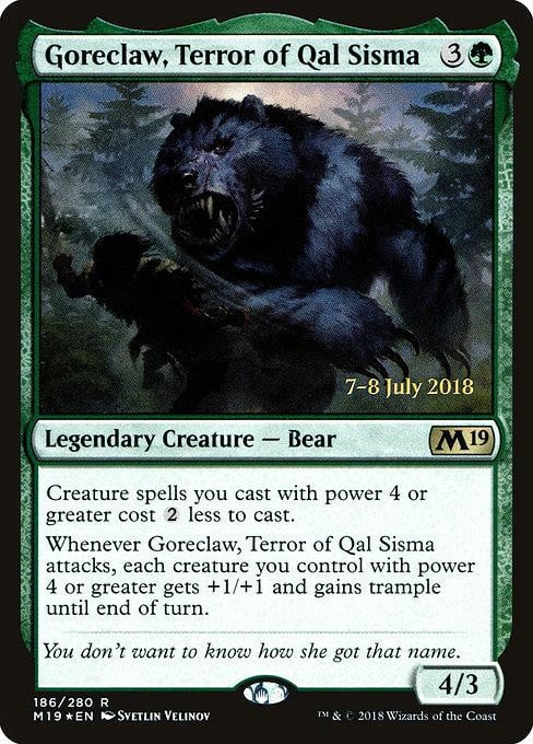 Goreclaw, Terror of Qal Sisma [Core Set 2019 Promos] | Affinity Games
