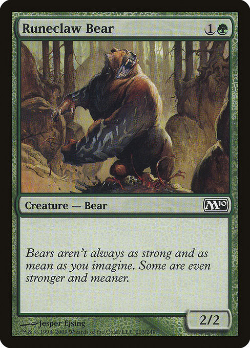 Runeclaw Bear [Magic 2010]