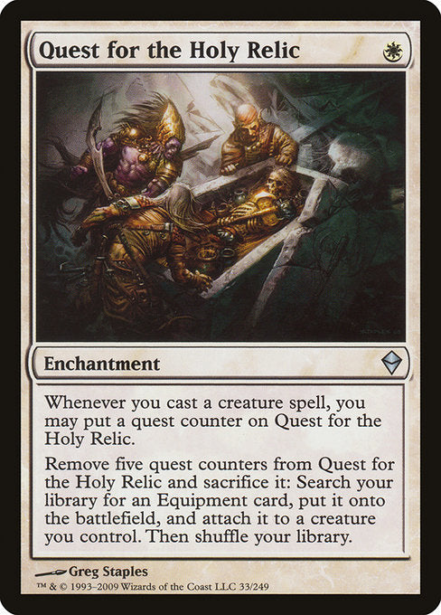 Quest for the Holy Relic [Zendikar] | Affinity Games