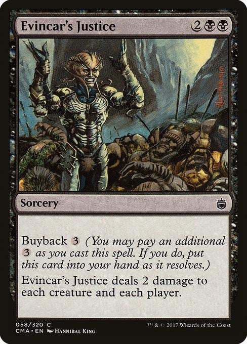 Evincar's Justice [Commander Anthology] | Affinity Games