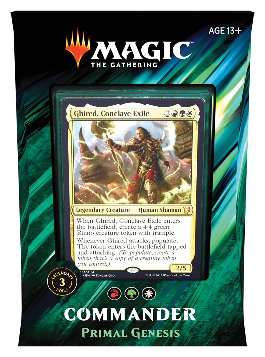 Magic: The Gathering | Commander 2019 | Primal Genesis | Affinity Games