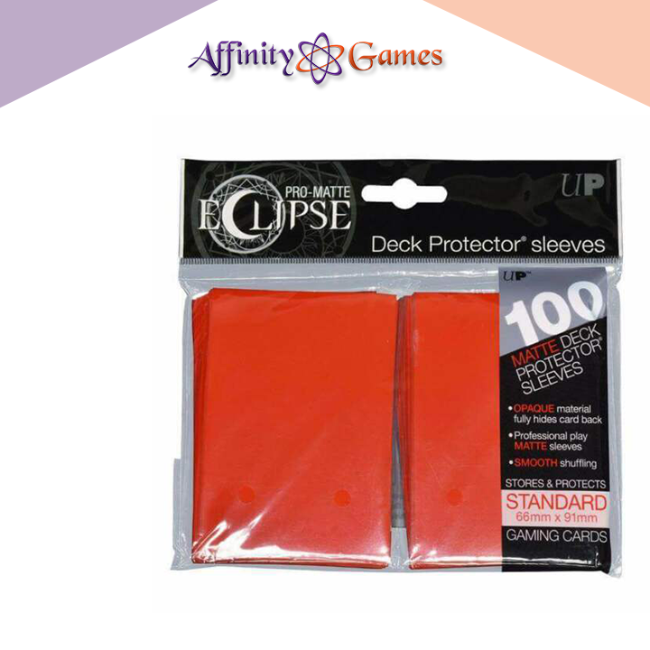 Ultra Pro | Pro Matte Eclipse: Deck Protector 100ct | Red