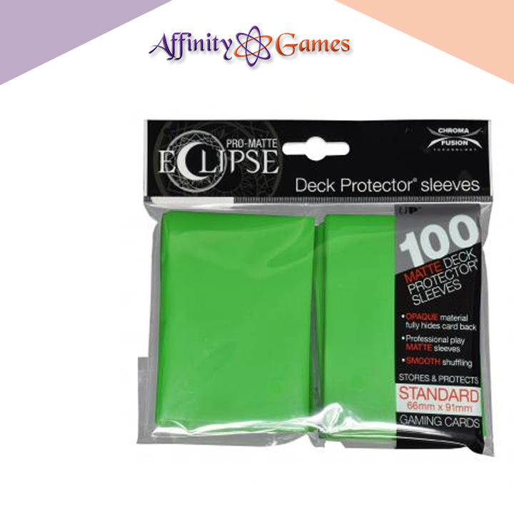 Ultra Pro | Pro Matte Eclipse: Deck Protector 100ct | Lime Green | Affinity Games