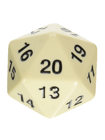 Opaque: 55mm D20 Countdown Black/White