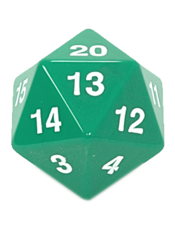 Opaque: 55mm D20 Countdown Green/White