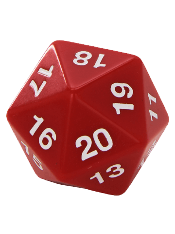Opaque: 55mm D20 Countdown red/White
