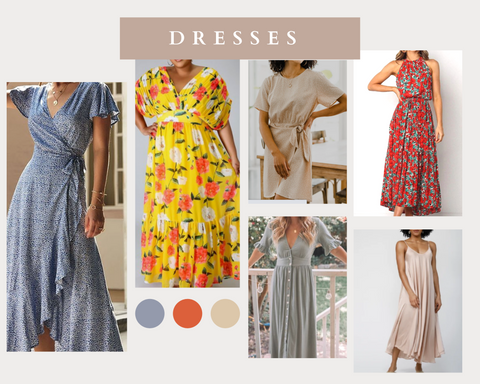 dress spring consignment collage
