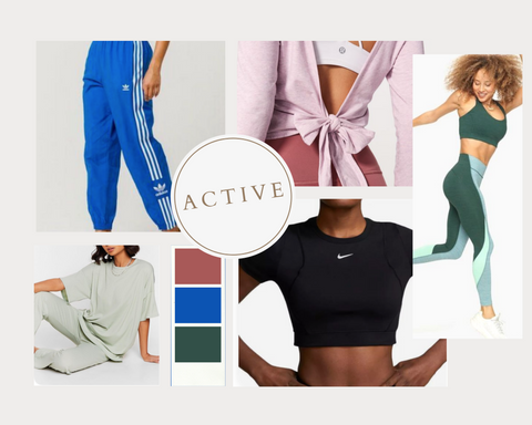 active wear spring consignment collage