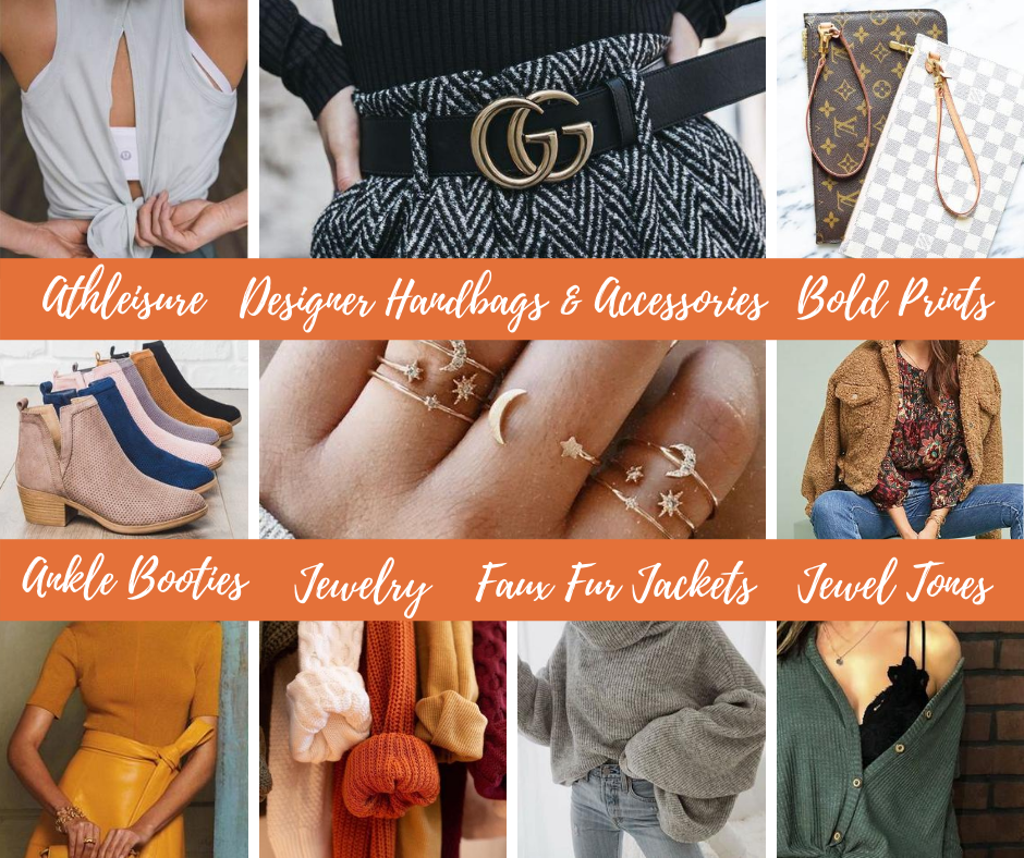 fall consignment collage