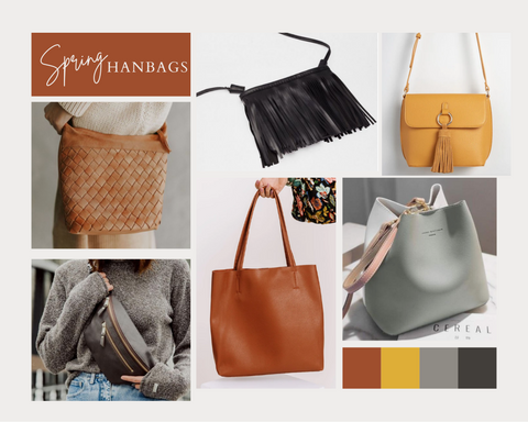 handbags spring consignment collage