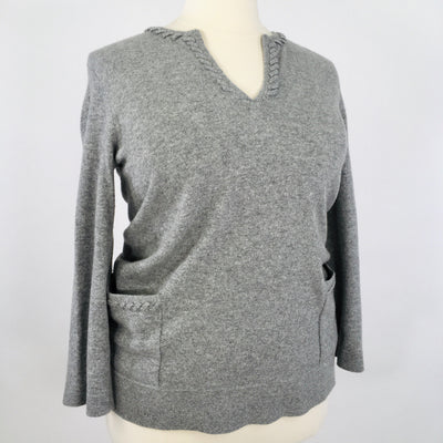Tory Burch Grey Size XL Designer Sweater