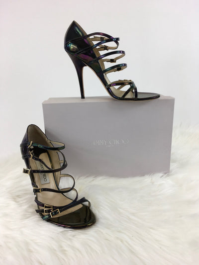 Size 40 Multi-Color Jimmy Choo DESIGNER Shoe