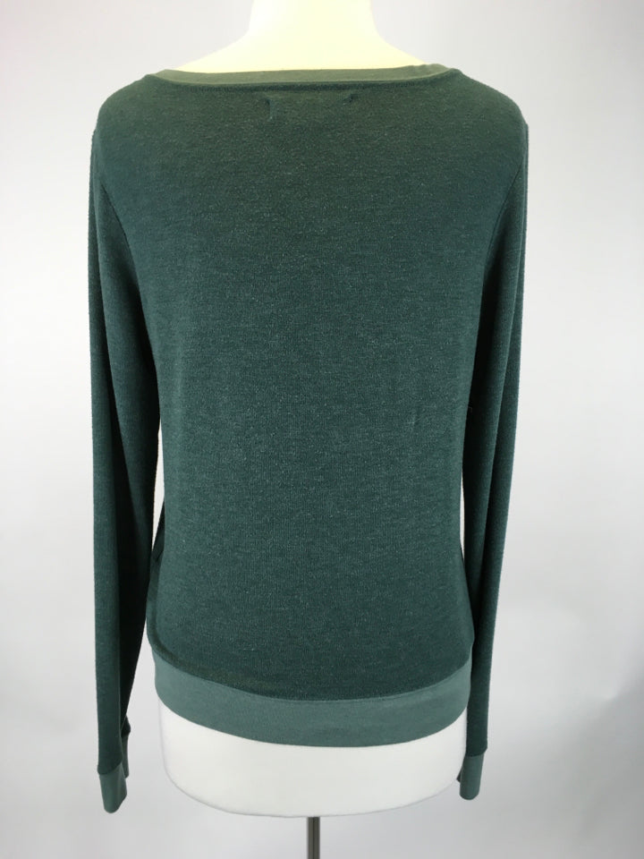 Size S Green Spiritual Gangster Active Sweater