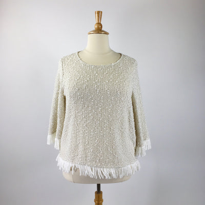 Vince Camuto Beige Size 2x Sweater