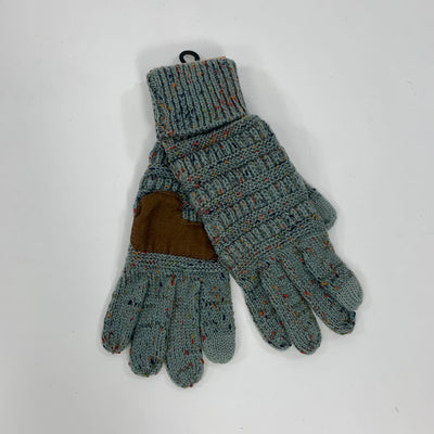 C.C light grey Gloves