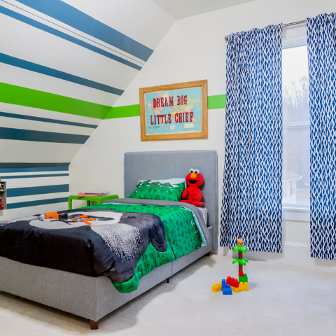boo and rook little boys room e-design striped wall