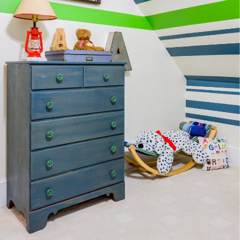 boo and rook little boys room, stripes, striped room