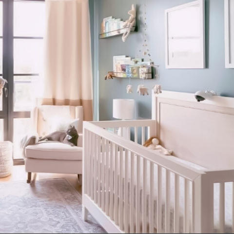 boo and rook e-design gender neutral infertility success nursery new york brooklyn classic modern