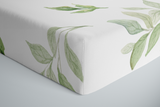 Green Leaves Crib Sheet