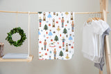 boo and rook, the nutcracker baby bedding, holiday collection, crib sheets, newborn sherpa blanket, toddler minky blanket