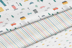 boo and rook city life collection baby boy crib sheet modern city scene crib sheet