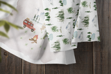 boo and rook campsite crib sheet for outdoor forest theme baby boy nursery baby shower gift