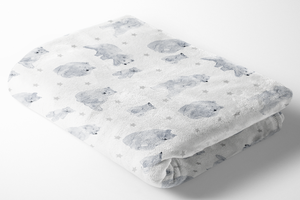 boo and rook woodland bears baby blanket minky sherpa, gender neutral nursery decor