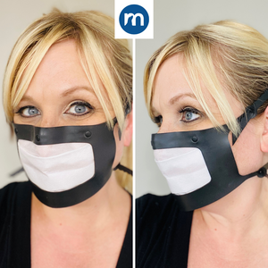 Masksealz OG - re-usable silicone face mask with self-adhering replaceable filter