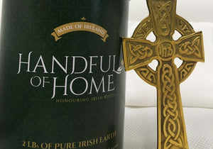 Handful of Home Ceremonial Canister - Irish Heritage Display for Irish funeral ceremony