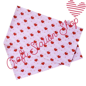 Hearts 18 Faux Leather Single Sheet