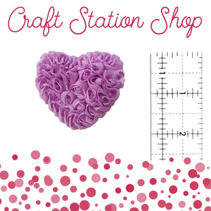 Shabby Heart Applique - Lilac Small