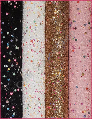 Chunky Glitter Poly Clay Faux Leather Single Sheet - Craft Station Shop