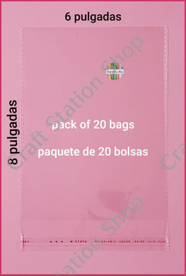 Clear Bags Large / Bolsas transparentes Grandes - Craft Station Shop