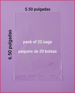 Clear Bags Medium / Bolsas transparentes Mediana - Craft Station Shop