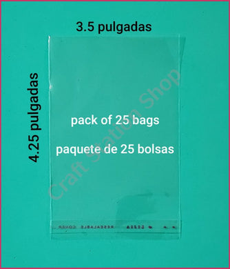 Clear Bags Small / Bolsas transparentes Pequeñas - Craft Station Shop