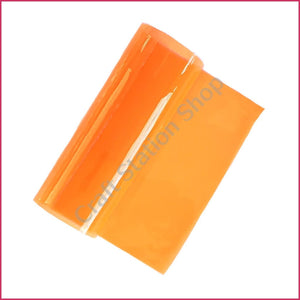 Clear Faux Leather – Solid Transparent Orange Color - Craft Station Shop