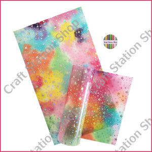 Clear Multicolor / Silver Stars