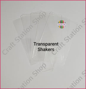 Clear - Transparent Empty Shaker Bow - Craft Station Shop