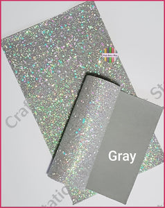 Crystal Chunky Glitter Faux Leather - Craft Station Shop