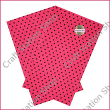 Load image into Gallery viewer, Dots Fuschia / Black Faux Leather Single Sheet