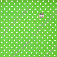Load image into Gallery viewer, Dots - Green/ White Faux Leather Single Sheet