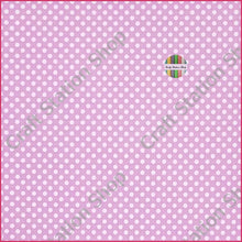 Cargar imagen en el visor de la galería, Dots Lavender/White Faux Leather Single Sheet - Craft Station Shop