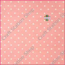 Load image into Gallery viewer, Dots Light Coral/White Faux Leather Single Sheet - Craft Station Shop