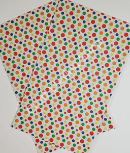 Dots Multicolor/Bright Faux Leather Single Sheet - Craft Station Shop