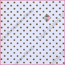 Load image into Gallery viewer, Dots - White/gold Faux Leather Single Sheet