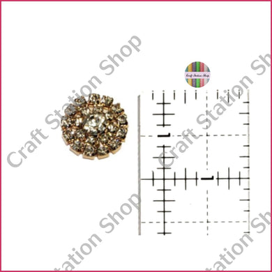 Embellishment 12 Gold Backing Rinestone / Imitación De Diamante Base Dorada