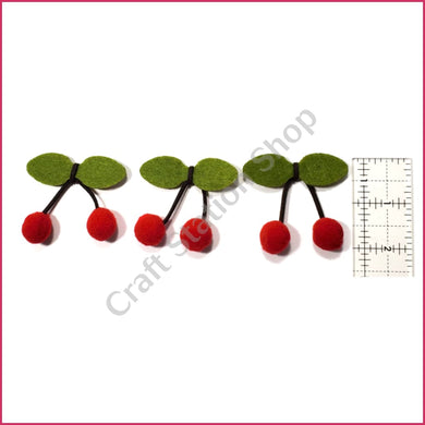 Felt 01 cherries / cerezas - Craft Station Shop